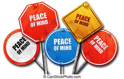vrede, verzameling, meldingsbord, verstand, straat, vertolking, ruige , 3d