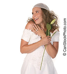 vreugde, volle, liefde, vrolijke , bruid