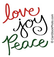 vreugde, vrede, liefde
