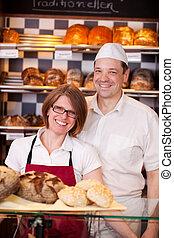 vriendelijk, bakkerij, personeel