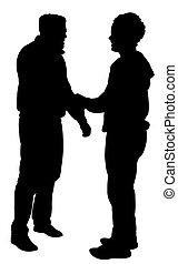 vrienden, silhouette