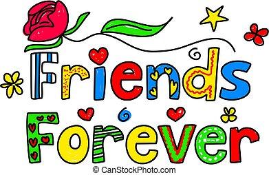 vrienden, voor altijd