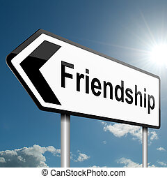vriendschap, concept.