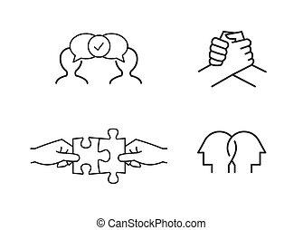 vriendschap, iconen