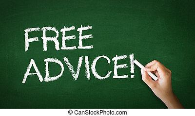 vrij advies, krijt, illustratie