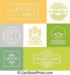 vrije reeks, fris, boerderij, vector, etiketten