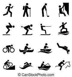 vrije tijd, sporten, en, buitenactiviteiten