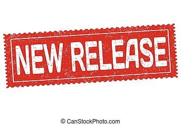 vrijgave, nieuw, rubber, grunge, postzegel