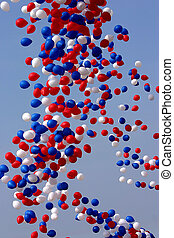 vrijgegeven, ballons, viering