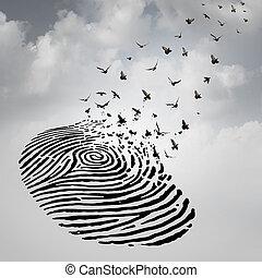vrijheid, concept, identiteit