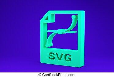 vrijstaand, 3d, document., achtergrond., groen blauw, ...