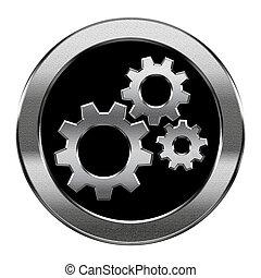 vrijstaand, achtergrond., zilver, gereedschap, witte , pictogram
