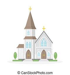 vrijstaand, christan, church.