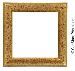 vrijstaand, decoratief, frame