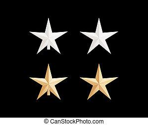 vrijstaand, decoratief, ster, voor, kerstboom, op wit, achtergrond