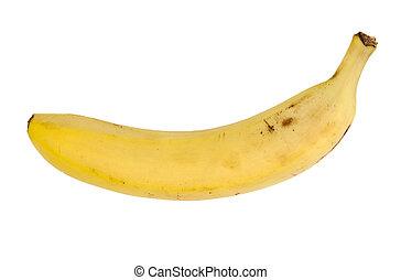 vrijstaand, enkel, witte , banaan
