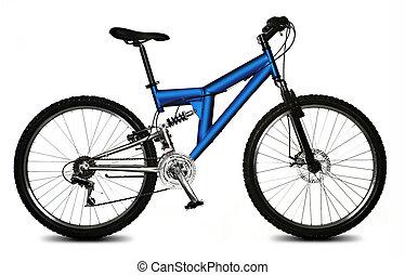 vrijstaand, fiets