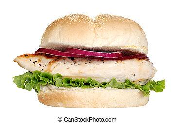 vrijstaand, gegrilde lave sandwich