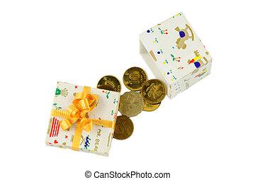 vrijstaand, geld, cadeau