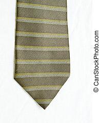 vrijstaand, gele, achtergrond., zwarte band, gestreepte , witte