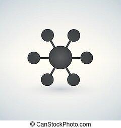vrijstaand, illustratie, aansluitingen, vector, white., pictogram