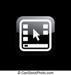 vrijstaand, illustratie, desktop, enkel, vector, pictogram