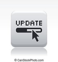 vrijstaand, illustratie, update, enkel, vector, pictogram