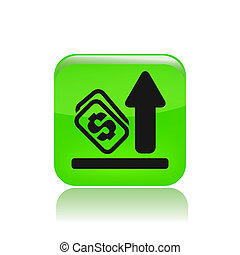 vrijstaand, illustratie, verhogen, enkel, vector, pictogram