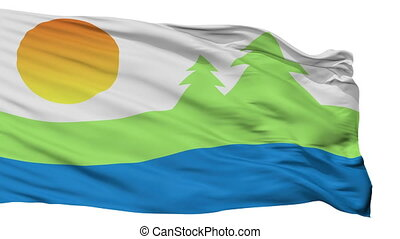vrijstaand, kawartha, meren, stad, vlag, canada