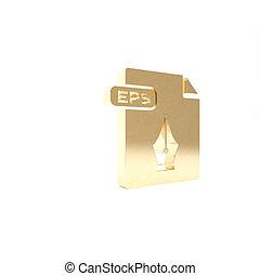 vrijstaand, knoop, render, pictogram, 3d, eps, goud, illustratie, achtergrond., symbool., downloaden, bestand, document., witte