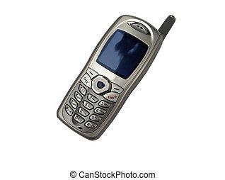 vrijstaand, mobiele telefoon