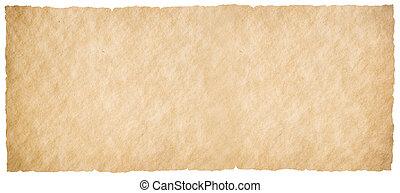 vrijstaand, ouderwetse , papier, horizontaal, perkament, of, witte