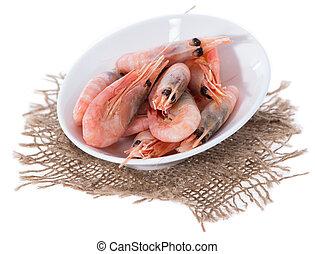 vrijstaand, rauwe, prawns