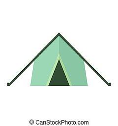 vrijstaand, vector, achtergrond, tent., witte , pictogram
