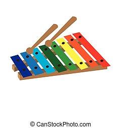 vrijstaand, xylofoon, speelbal