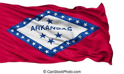 vrijstaand, zwaaiende , nationale vlag, van, arkansas