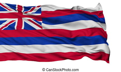 vrijstaand, zwaaiende , nationale vlag, van, hawaii
