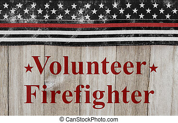 vrijwilliger, boodschap, brandweerman