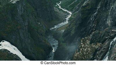 vringsfossen, wasserfall, norwegen