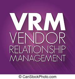vrm, gestion, -, vendeur, relation