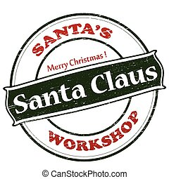 vrolijk, claus, kerstmis, kerstman