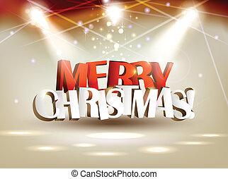 vrolijk, kerstmis.