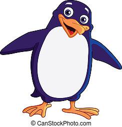 vrolijk, penguin
