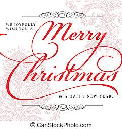 vrolijk, vector, kerstmis, achtergrond