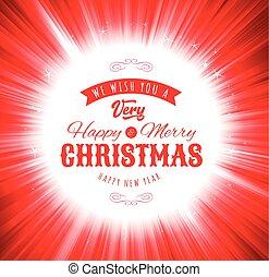 vrolijk, wensen, kerstmis, achtergrond