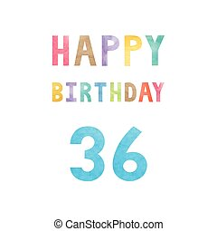vrolijke , 36th, jarig, verjaardag kaart