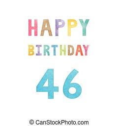 vrolijke , 46th, jarig, verjaardag kaart