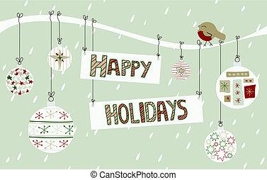 vrolijke , achtergrond, feestdagen