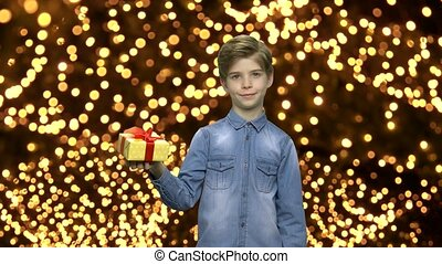 vrolijke , box., kerstkado, kind