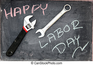 vrolijke , dag, arbeid